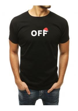 Pánske sviatočné tričko s potlačou v čiernej farbe