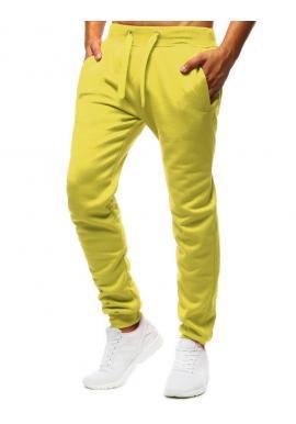 Klasické pánske tepláky žltej farby
