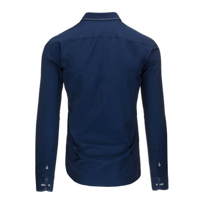 Pánska elegantná košeľa v tmavomodrej farbe