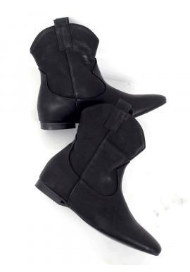 Čierne lícové topánky so širokým zvrškom pre dámy