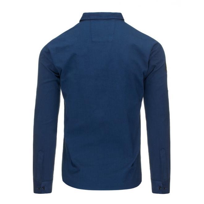 Štýlová pánska košeľa zelenej farby s dlhým rukávom