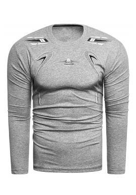 Sivé bavlnené tričko s potlačou pre pánov