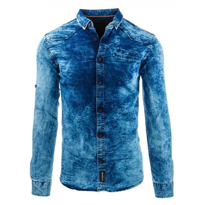 Štýlová pánska košeľa v modrej farbe
