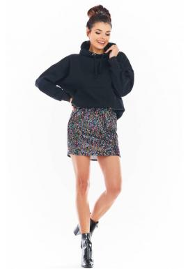 Farebná mini sukňa s flitrami pre dámy