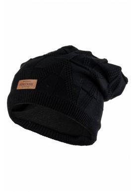 Čierna módna čiapka na zimu pre dámy