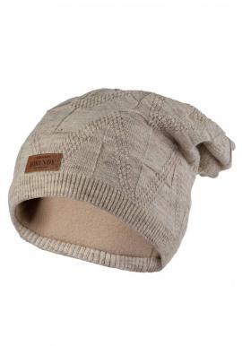 Dámska módna čiapka na zimu v béžovej farbe