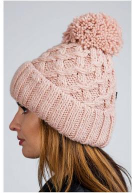 Ružová teplá čiapka na zimu pre dámy