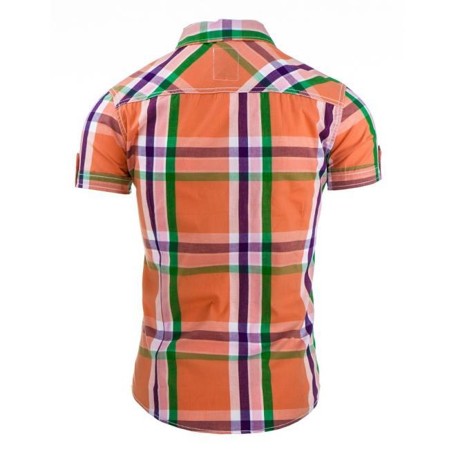Viacfarebná pánska košeľa s károvaným motívom
