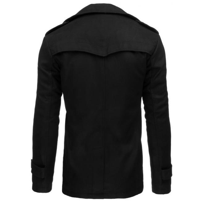 Jednoradový kabát v čiernej farbe pre pánov