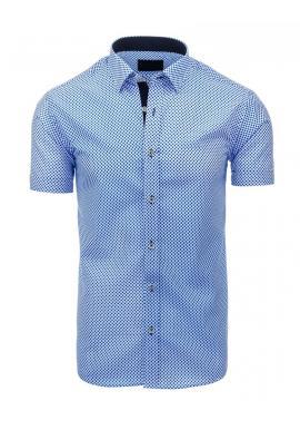 Vzorovaná pánska košeľa v modrej farbe