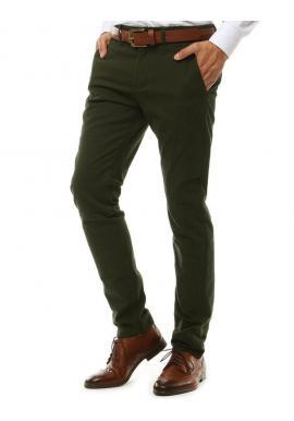 Elegantné pánske Chinos nohavice zelenej farby