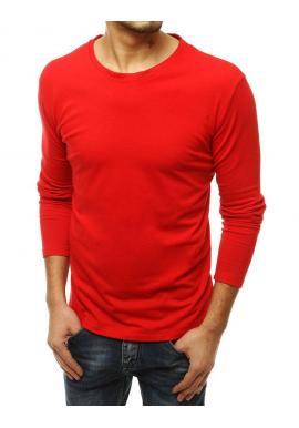 Pánske klasické tričko s dlhým rukávom v červenej farbe