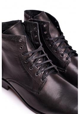 Čierne elegantné kožené topánky pre pánov