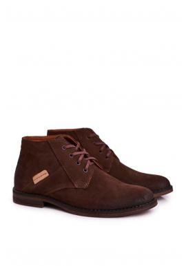 Elegantné pánske topánky hnedej farby