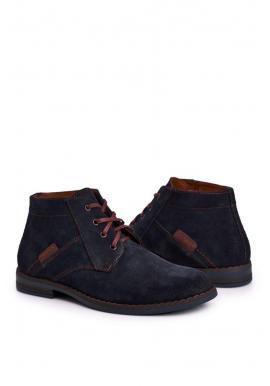 Pánske elegantné topánky v tmavomodrej farbe