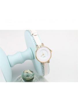 Dámske elegantné hodinky s dvojitým remienkom v modrej farbe