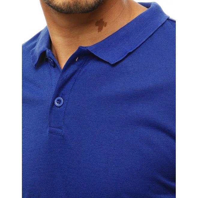 Pánska klasická polokošeľa v modrej farbe
