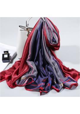 Farebný elegantný šifónový šál so vzorom pre dámy