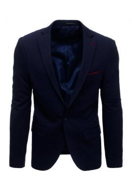 Pánske neformálne sako s jedným gombíkom v tmavomodrej farbe