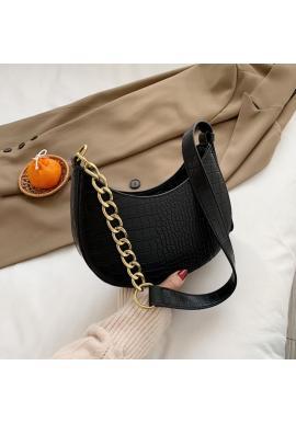 Elegantná dámska kabelka čiernej farby z ekokože