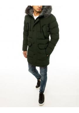 Zelená dlhá bunda na zimu pre pánov