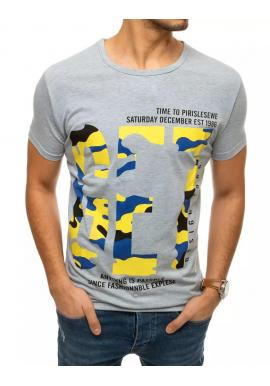 Svetlosivé klasické tričko s krátkym rukávom pre pánov