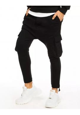 Pánske teplákové kapsáče v čiernej farbe