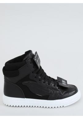 Dámske členkové Sneakersy v čiernej farbe