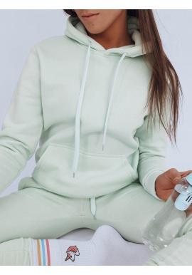 Dámska športová mikina s kapucňou v mätovej farbe
