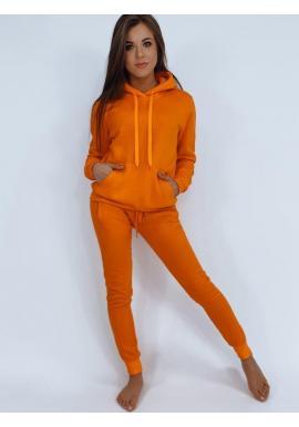 Dámska tepláková súprava v oranžovej farbe