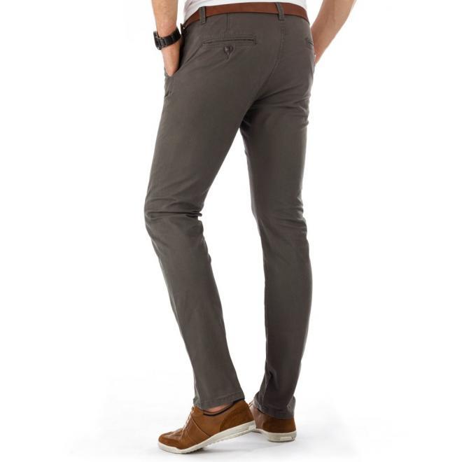 Tmavosivé pánske nohavice v elegantnom štýle