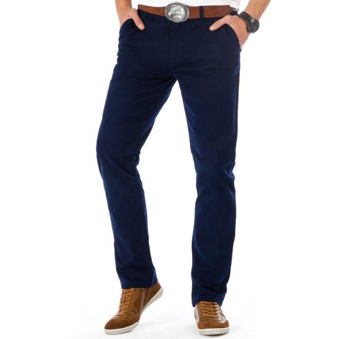 Nohavice Chinos pre pánov v tmavomodrej farbe