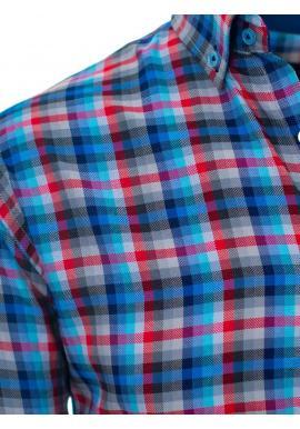 Pánska farebná košeľa s kockovaným vzorom