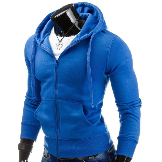 Mikina čiernej farby na zips s kapucňou