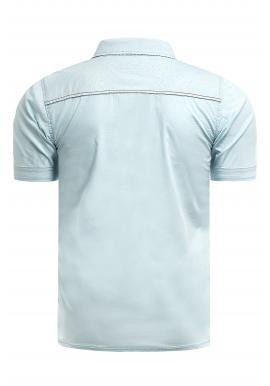 Svetlomodrá slim fit košeľa s krátkym rukávom pre pánov