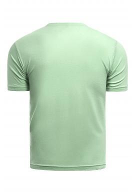 Klasické pánske tričká zelenej farby s potlačou