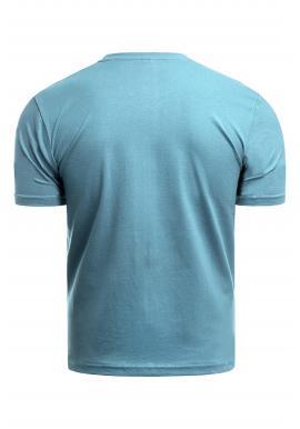 Svetlomodré klasické tričko s potlačou pre pánov