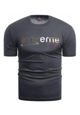 Klasické pánske tričko tmavosivej farby s potlačou