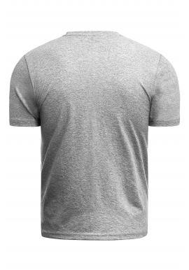 Sivé klasické tričko s potlačou pre pánov