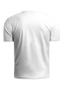 Klasické pánske tričko bielej farby s potlačou