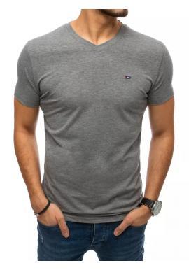 Pánske módne tričko s véčkovým výstrihom v tmavosivej farbe