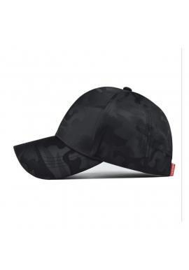 Čierna maskáčová šiltovka pre dámy