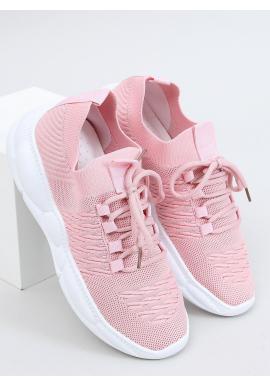 Športové dámske tenisky ružovej farby so štýlovou podrážkou