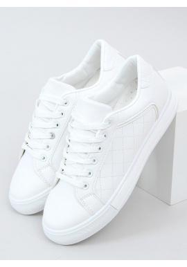 Klasické dámske tenisky bielej farby s prešívaným vzorom