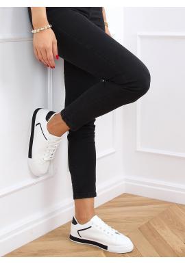 Bielo-čierne klasické tenisky s prešívaným vzorom pre dámy