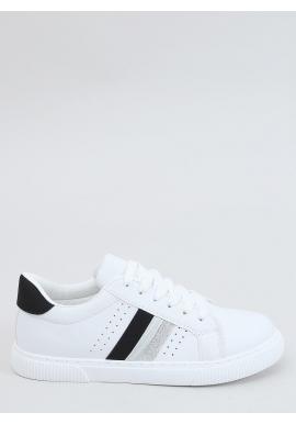 Bielo-čierne klasické tenisky s trblietavými vložkami pre dámy