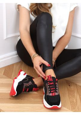 Štýlové dámske tenisky čiernej farby s vysokou podrážkou