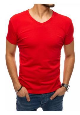 Pánske klasické tričko s véčkovým výstrihom v červenej farbe