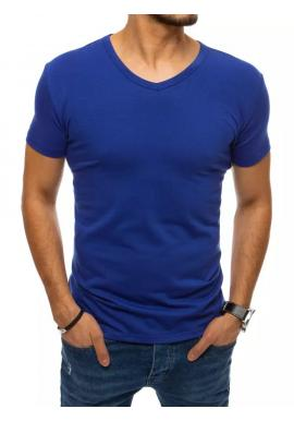 Klasické pánske tričko modrej farby s véčkovým výstrihom