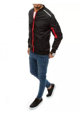Pánska prechodná bunda s reflexnými doplnkami v čiernej farbe